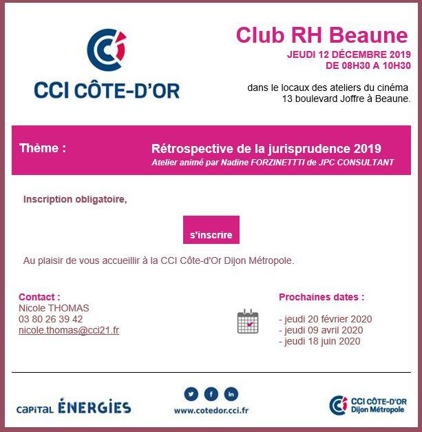 Club rh beaune dec 2019